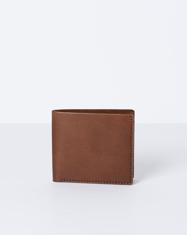Open Billfold Wallet in Bark