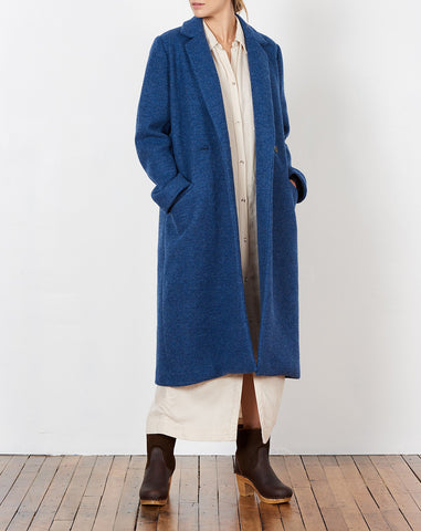 Dolores Overcoat in Blue