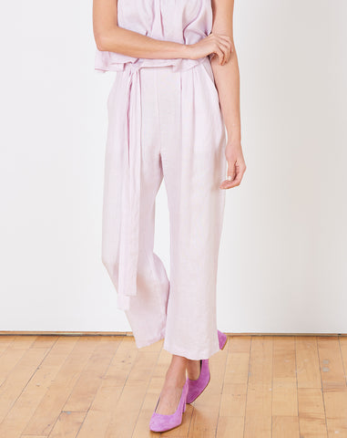 Easy Draped Pant in Lavender