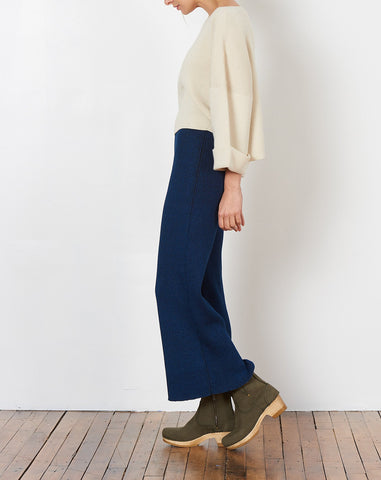 Eva Cropped Sweater in Cream