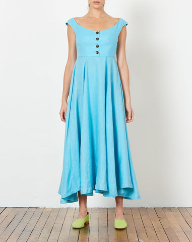 Greta Dress in Sky Blue