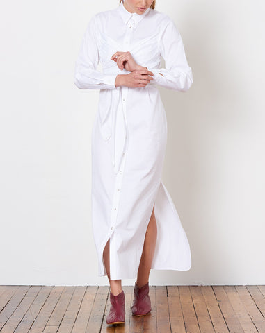 Lillian Shirt Dress in White