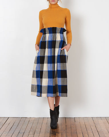 Mary Plaid Paperbag Skirt