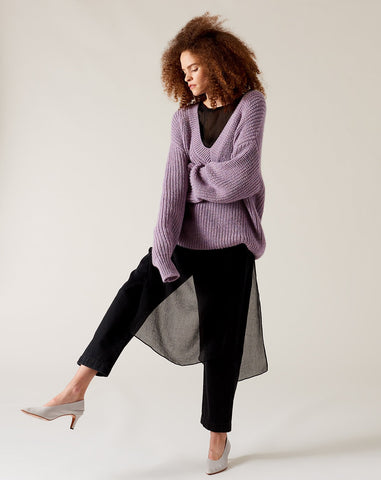 Revel Sweater in Lavender
