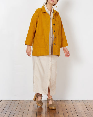 Sally Corduroy Jacket in Mustard