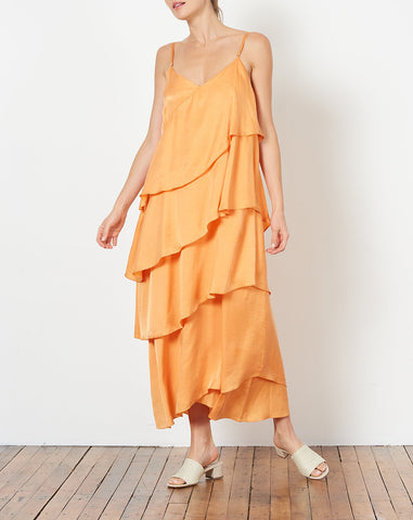 Salome Dress in Nectarine