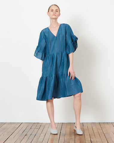 Gayle Dress in Cerulean
