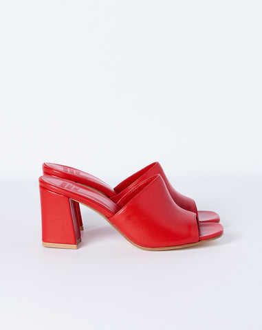 Mar Mule in Red Calf