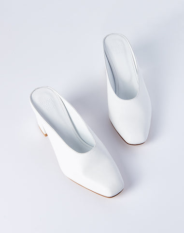 Maryam Mule in White Calf