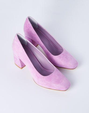 Maryam Pump in Lavender Suede
