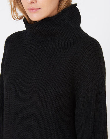 Funnel Neck Sweater in Black