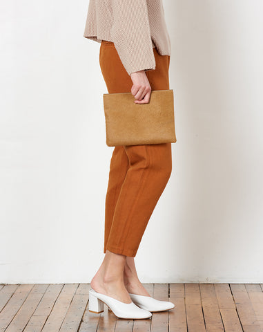 Pouch in Honey Calf Hair