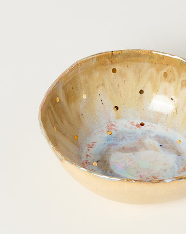 Small Iceland Bowl in Abalone with Gold