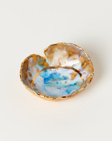 Mini Iceland Dish with Gold Ring