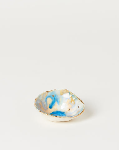 Mini Iceland Dish with Gold Splatter