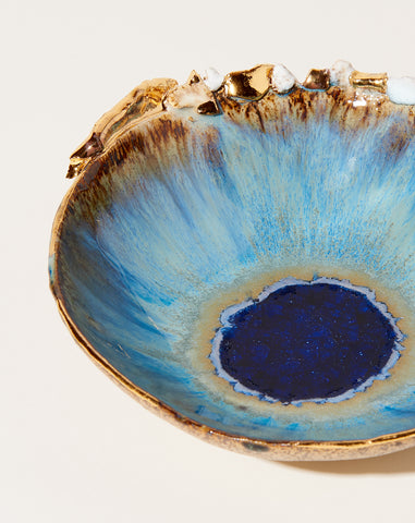 Small Iceland Bowl in Waterfall with Gold Crust