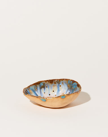 Extra Small Iceland Dish in Blue Lagoon with Gold Dots