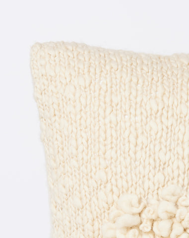 Moon Shag Pillow in Cream