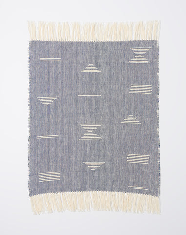 Shapes Towel in Blue