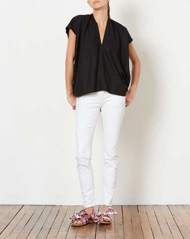 Everyday Top in Black Silk Noil