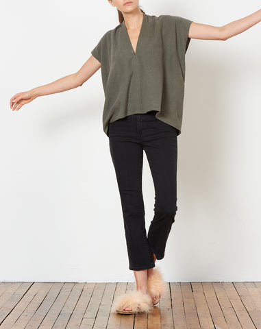 Everyday Top in Savannah Silk Noil