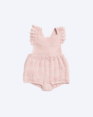 Eleanor Sunsuit in Pink Sand and Natural