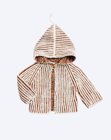 Plum Island Beach Jacket in Terracotta and Natural