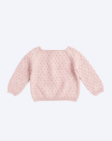 Popcorn Sweater in Pink Sand