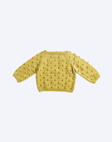 Popcorn Sweater in Winter Wheat