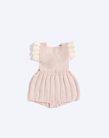Ruffle Romper in Dune and Snow