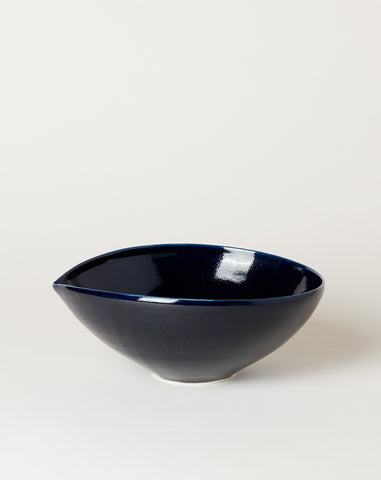 Extra Large Almond Bowl in Navy