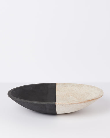 16 Inch Bowl in Black and White