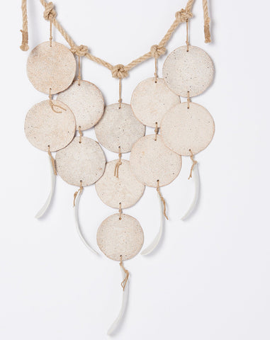 MQuan Five Strand Hanging Discs in White