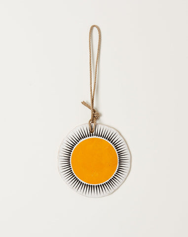 Large Round Ornament in Marigold New Sun