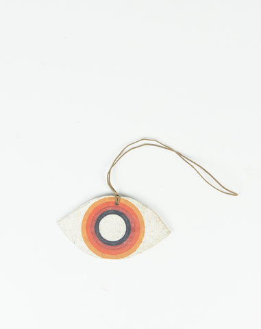 Painted Rainbow Eye Ornament