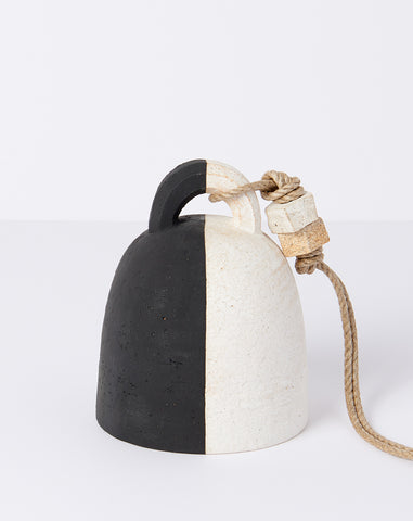 Small Round Black and White Bell
