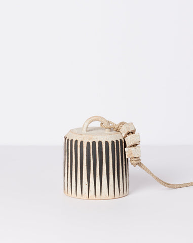 Small Wide Thrown Bell in Black Stripe