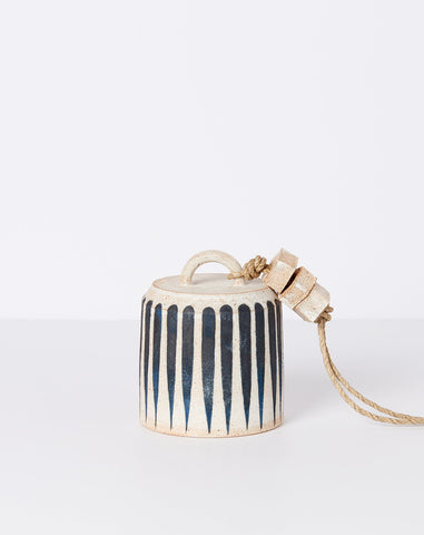 Small Wide Bell in Indigo Stripe