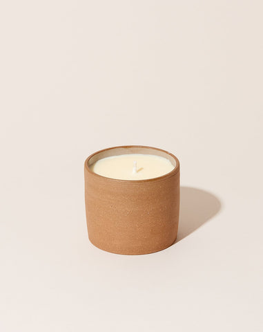 Essential Oil Terracotta Ceramic Candle: Grapefruit & Ginger