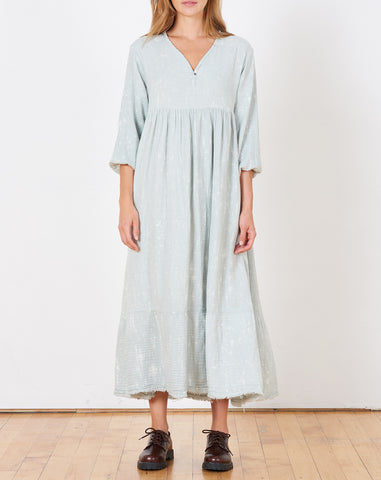 Athena Speckled Dress in Sky
