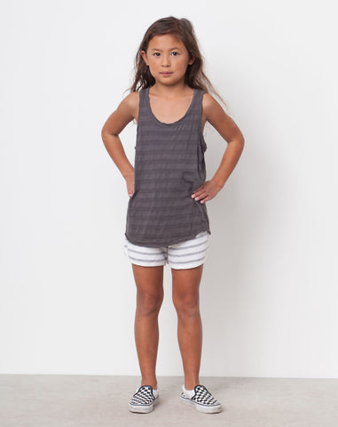 Bowie Striped Tank in Licorice