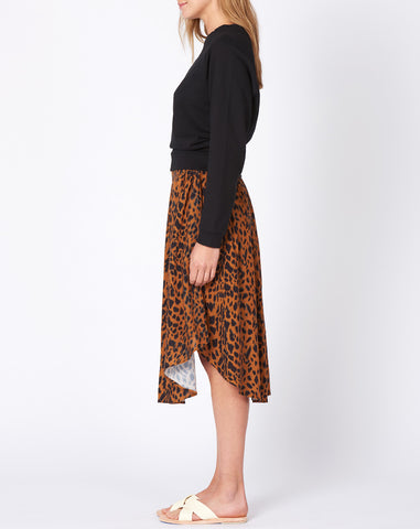 Nico Nico Joplin Printed Skirt in Cheetah