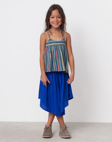 Joplin Textured Skirt in Blueberry