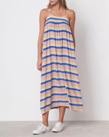 Mitchell Printed Dress in Peach