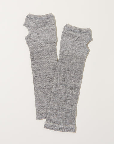 Short Linen Arm Covers in Light Grey