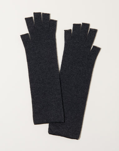 Wool Arm Warmers in Charcoal