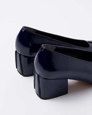 Ada Pump in Navy Diamante