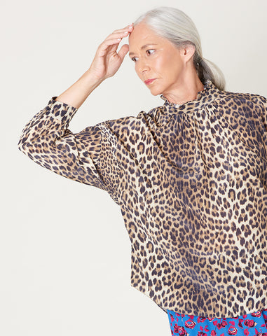 Callum Top in Leopard