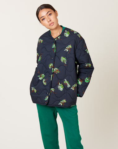 Caroll Jacket in Black Falling Floral