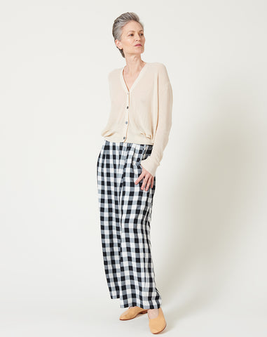 Jacob Pant in Black and White Large Gingham